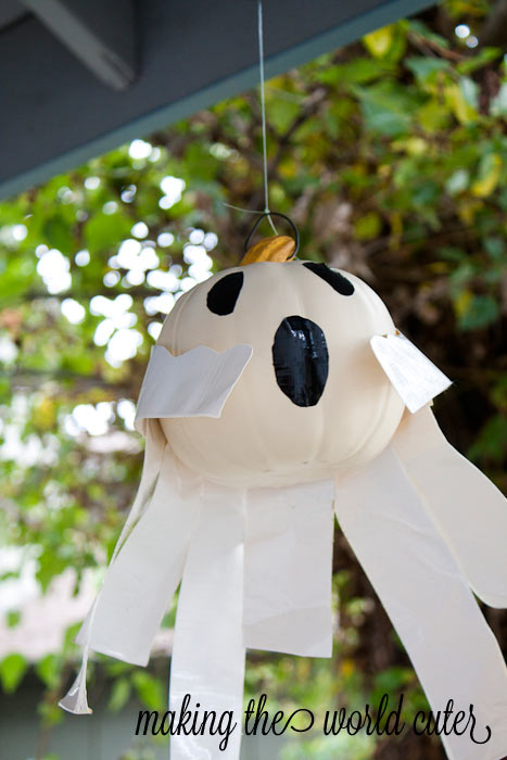 Ghost Pumpkin using Duck Tape | Making the World Cuter #StickOrTreat