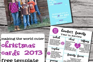 Making the World Cuter Christmas Card Design 2013