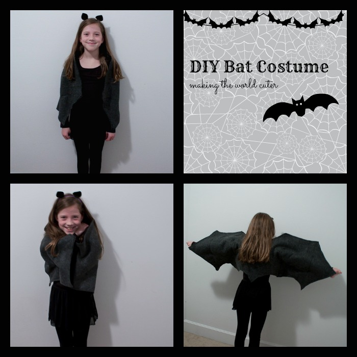 DIY Bat Costume, Easy-sew wings | Making the World Cuter