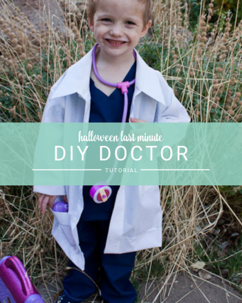 DIY Doctor Costume for kids Halloween costume or dress ups. Super easy and perfect for a last minute costume!