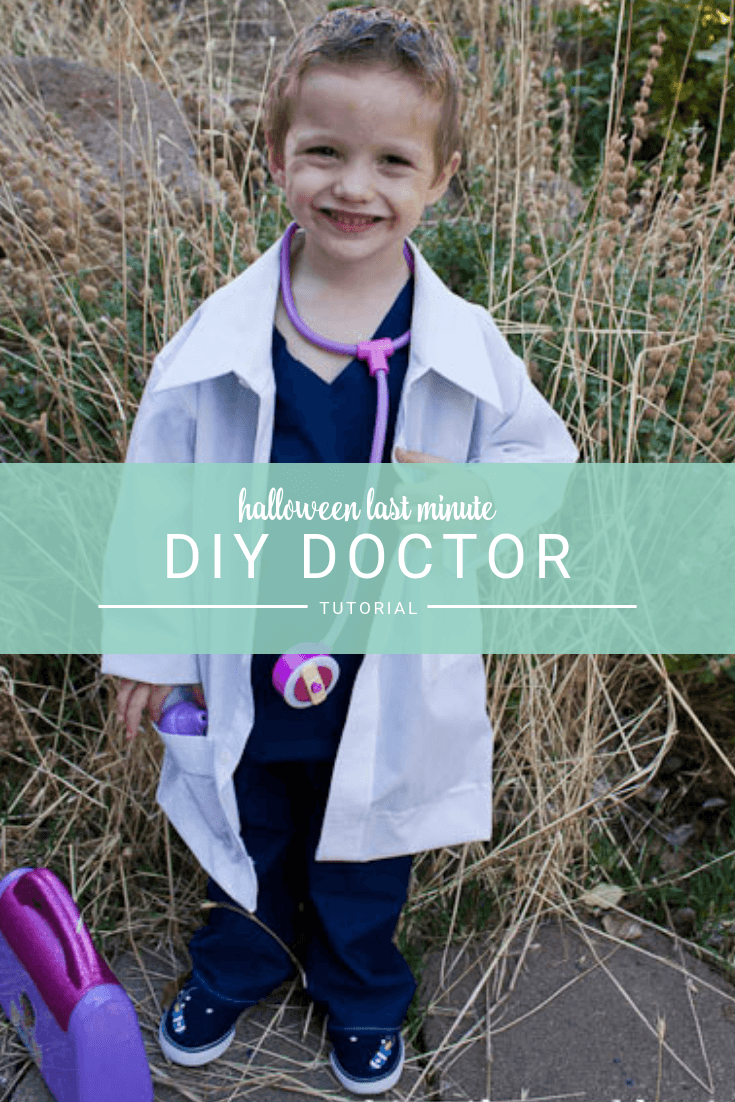 DIY Children's Doctor Costume for kids Halloween costume or dress ups. Super easy and perfect for a last minute costume!
