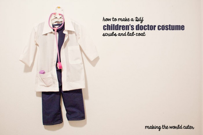 Diy childrens doctor costume how to make a cute childrens doctor costume scrubs and doctor coat making the solutioingenieria Gallery