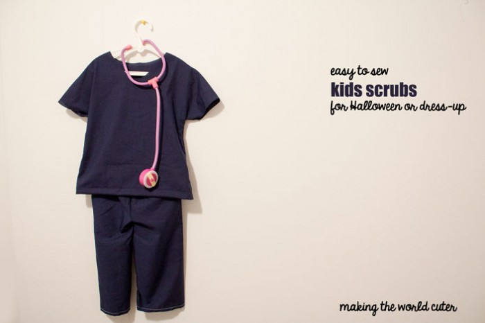 Easy to Sew Scrubs for Kids Making the World Cuter & DIY Childrenu0027s Doctor Costume
