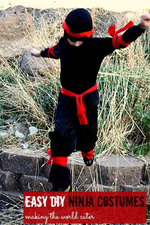 Easy DIY Ninja Costume | Last minute costume idea (also super easy way to make pants for pajamas or costumes).