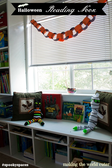 Halloween Reading Nook on Making the World Cuter #spookyspaces