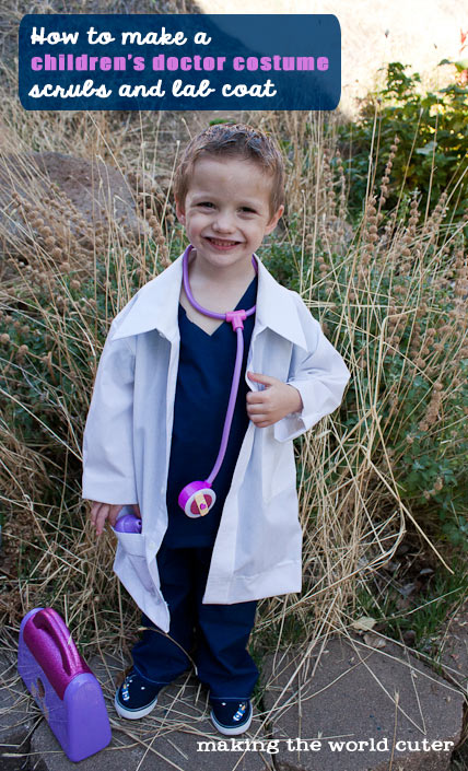 Diy childrens doctor costume how to make a childrens doctor costume making the world cuter solutioingenieria Images