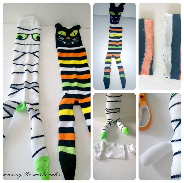 How to Make a Sock Mummy and Sock Cat on Making the World Cuter