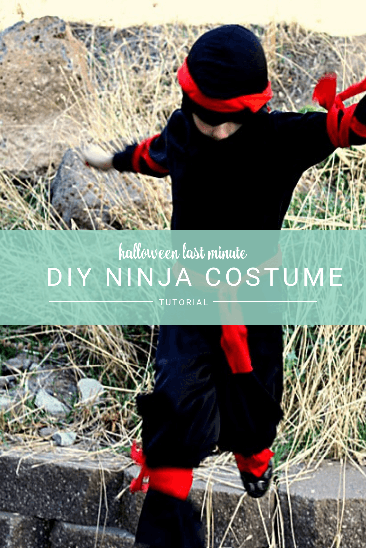 Easy DIY Ninja Costume perfect last minute costume for boys