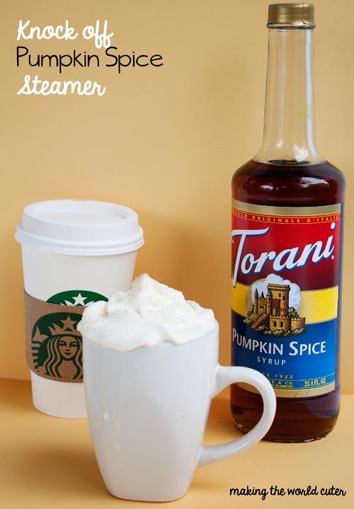 Starbucks Knock Off Pumpkin Steamers