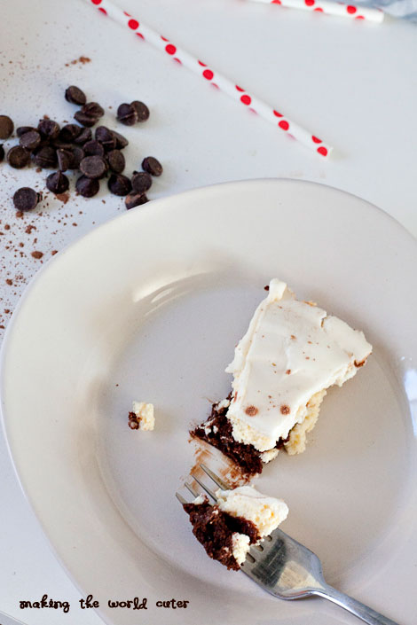 3 Layer Chocolate Brownie Cheesecake   Making the World Cuter