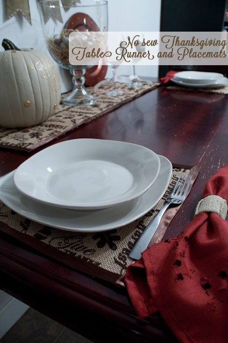 No Sew Table Runner and Place mats. Making the World Cuter