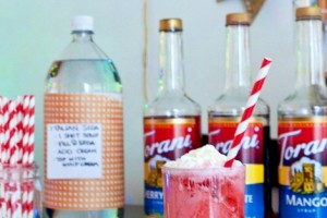 Have an Italian Soda Bar at your next party! Making the World Cuter has a list of everything you need and some helpful extras.
