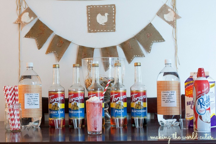 How to host an Italian Soda Bar at your parties (for non drinkers) | Making the World Cuter