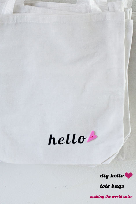 DIY Canvas Tote Bags | Making the World Cuter