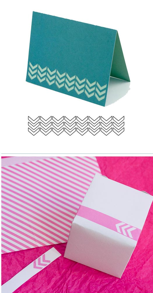 Visiting Teaching Treat Boxes with Washi Tape Cutouts
