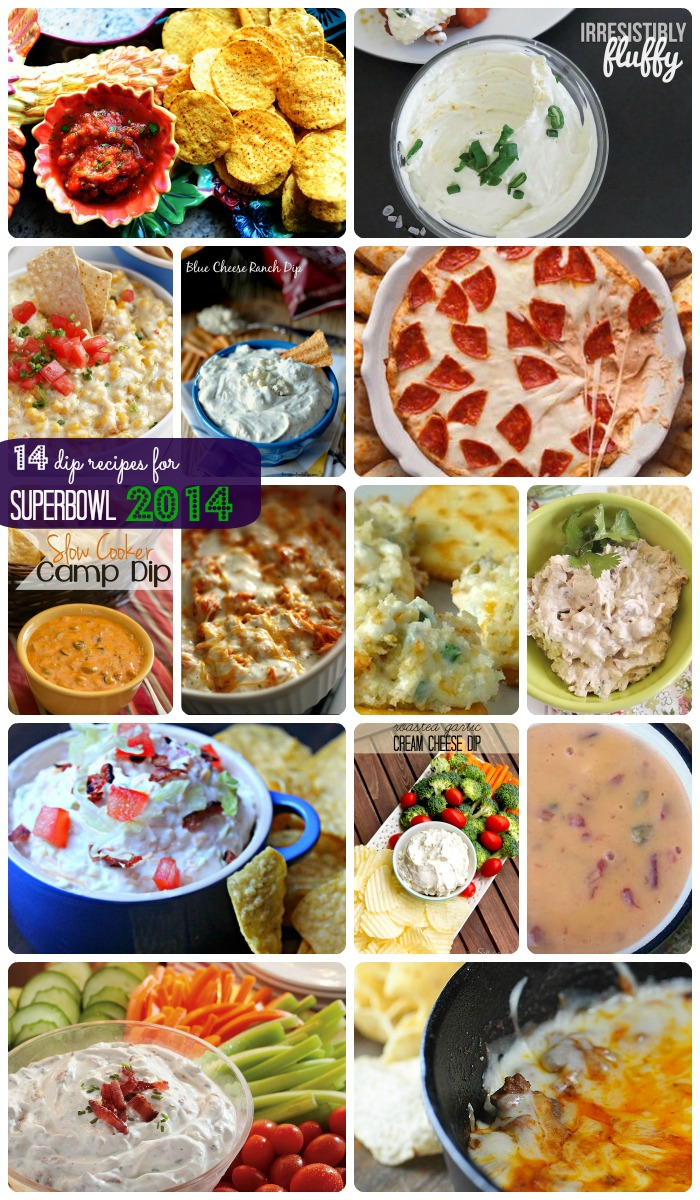 14 superbowl party dip recipes | Making the World Cuter Roundup
