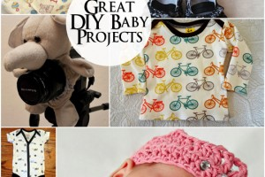 A bunch of cute DIY baby projects!