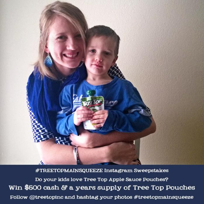 #treetopmainsqueeze Instagram contest! Enter it to win $500 and a year supply of Applesauce pouches!
