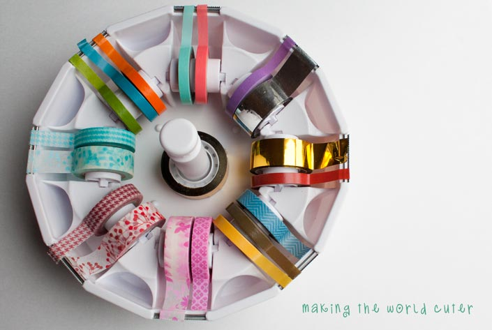 DIY memory game with washi tape