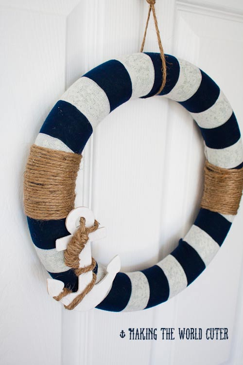 diy wreath nautical decor from making the world cuter this is so cute i - Nautical Decor