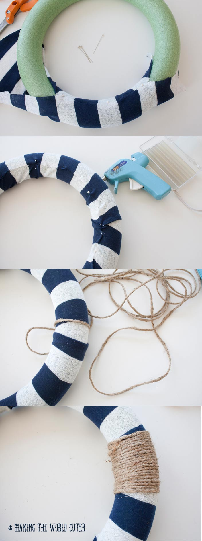 Nautical crafts to make - I Diy Wreath Nautical Decor From Making The World Cuter This Is So Cute I