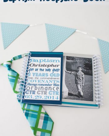 Baptism Book Keepsake for LDS kids by Making the World Cuter
