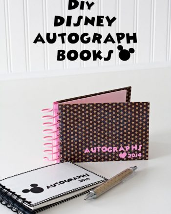Making the World Cuter DIY Disney Autograph Book (one Minnie inspired and another Mickey inspired)