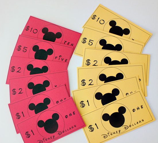 Disney Dollars Printable