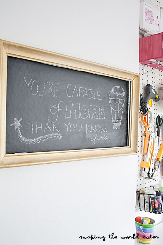 How to make a framed Chalkboard using chalkboard vinyl and an old frame with no back.