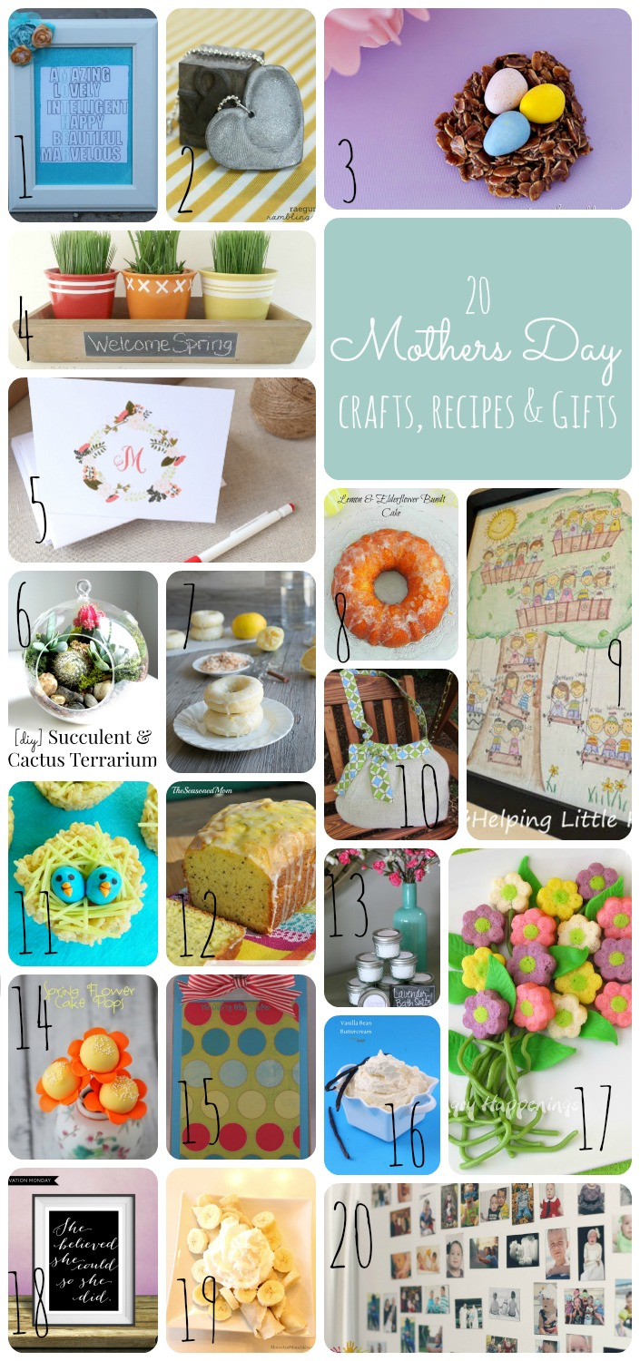 Making the World Cuter | 20 Mothers Day Gifts, Recipes and Crafts