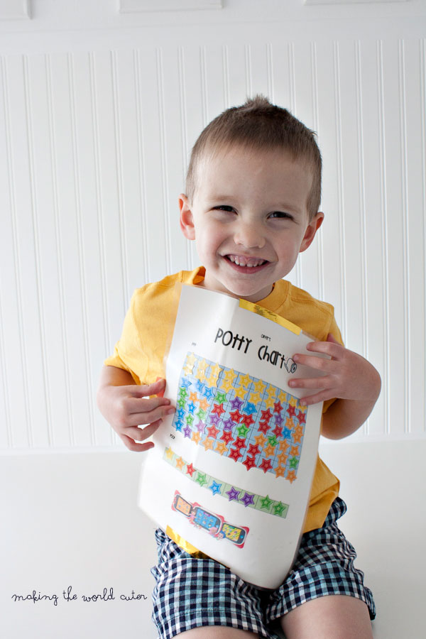 Free printable potty sticker chart and what finally worked to get this kid potty trained.