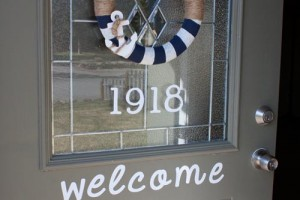 Cute House Numbers and Welcome sign using outdoor vinyl