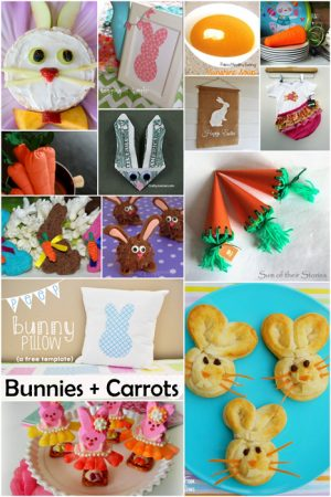 Bunny and Carrot Projects and Recipes. Perfect for Easter and Spring!