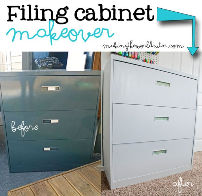 Cute Filing Cabinet Makeover Love The Flat White Vs Glossy Stuff Makingtheworldcuter