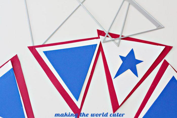 Americana Pennant Banner makingtheworldcuter.com