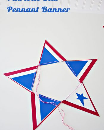 Patriotic Nesting Pennant Banner makingtheworldcuter.com