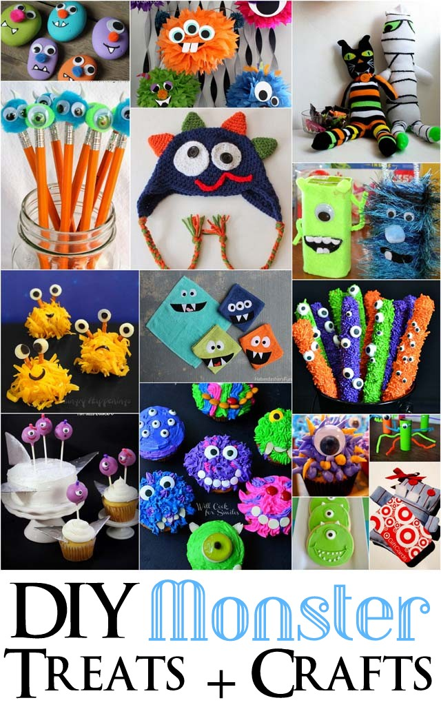DIY Monster Treats and Crafts makingtheworldcuter.com