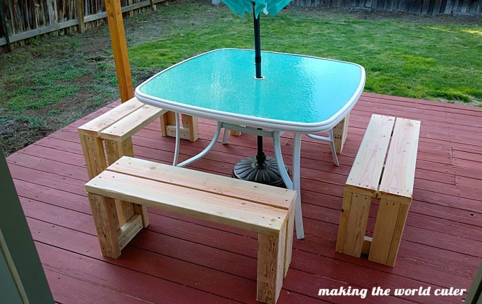 simple diy outdoor bench for less than 10