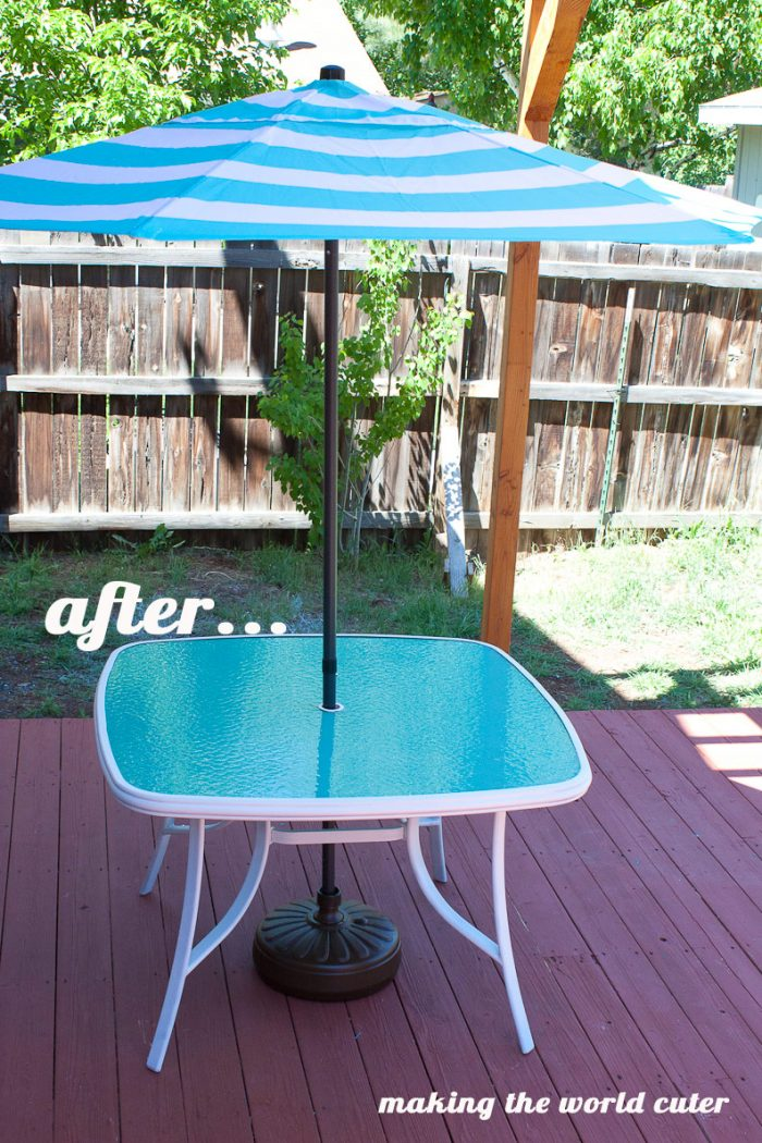 How to Make a Perfect Glass Patio Table Makeover