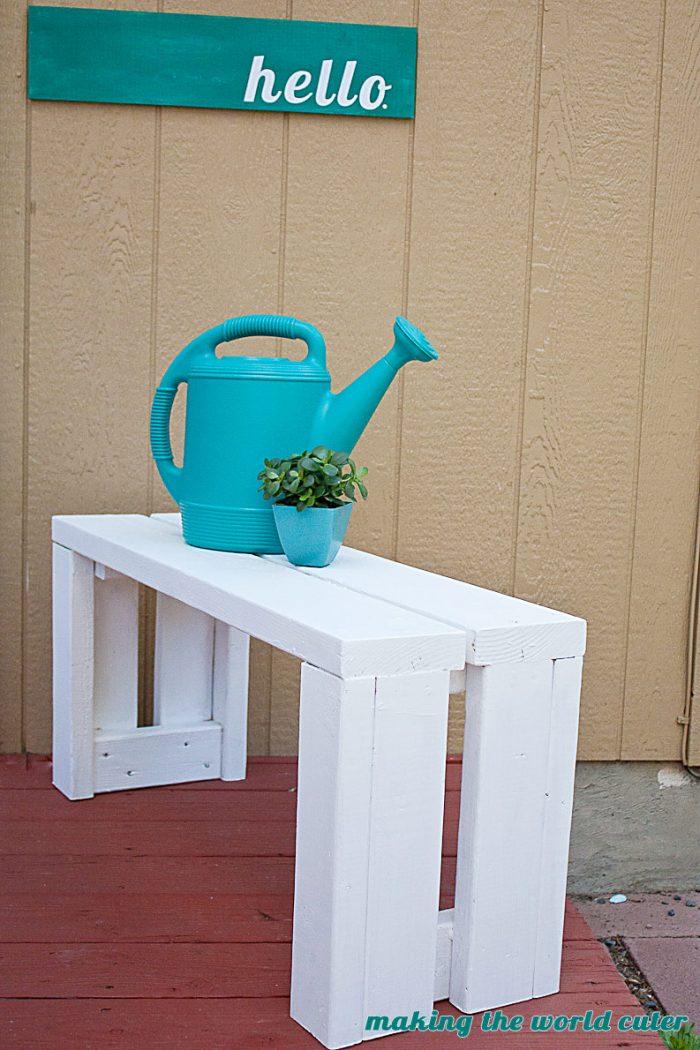 simple outdoor bench diy