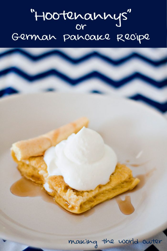 Hootenanny or German Pancakes Recipe. These are so easy to make and are so yummy!
