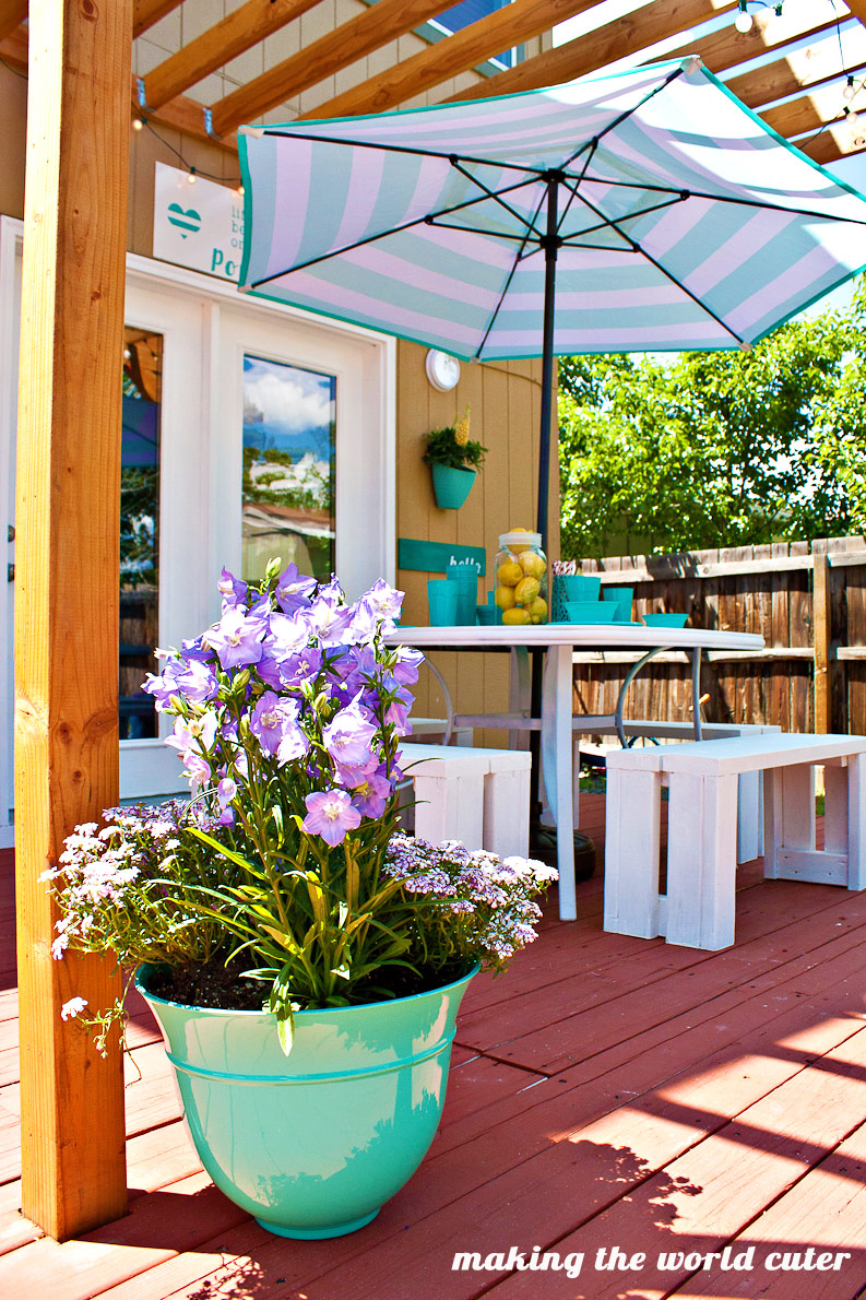 Making the World Cuter Back Porch Reveal! So many great ideas!