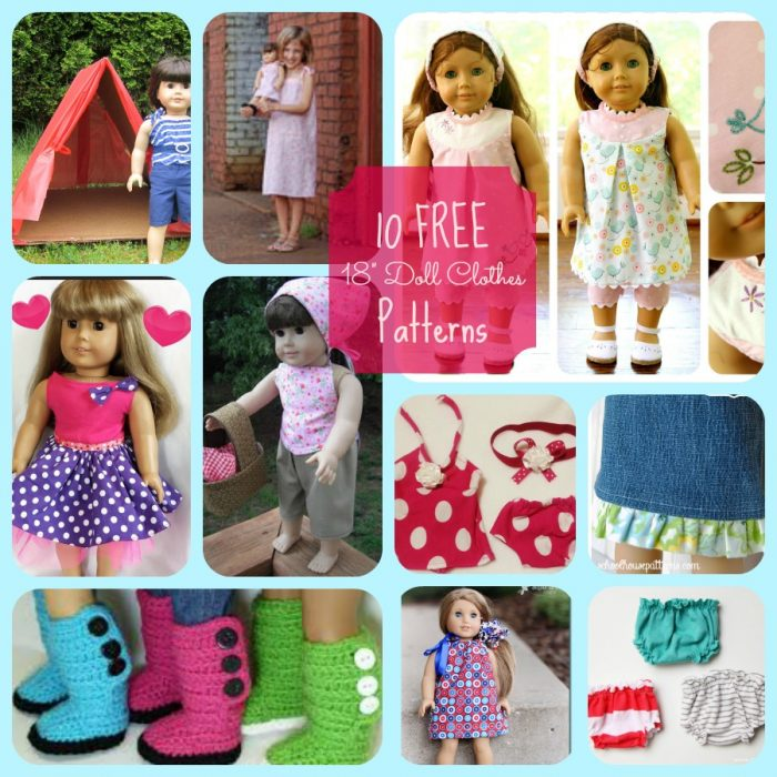 10 FREE American Girls Doll Clothes Patterns |Block Party