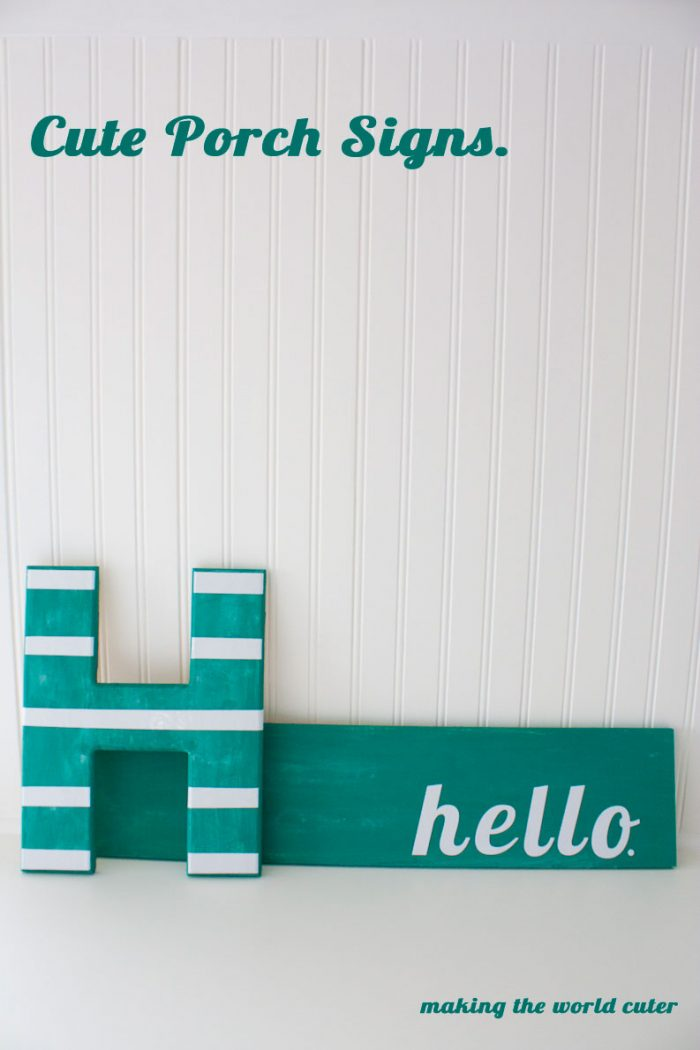Cute Porch Signs. This porch is so cute and summery!