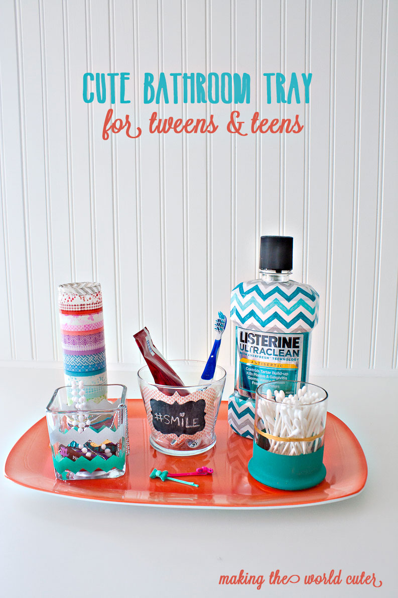 Cute Bathroom Tray for Tweens and Teens