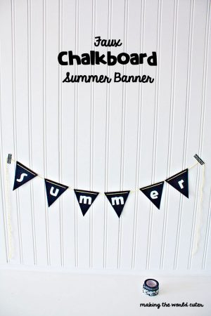 Easy Faux Chalkboard Summer Banner using Lifestyle Crafts Nesting Banner Dies