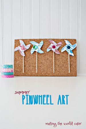 DIY Pinwheel Art at Making the World Cuter #30minutecraft
