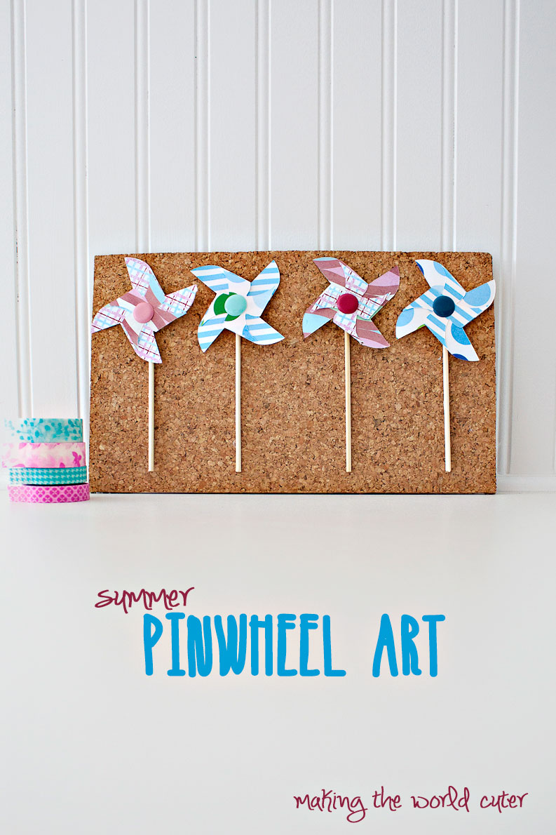 DIY Pinwheel Art at Making the World Cuter #30minutecraft