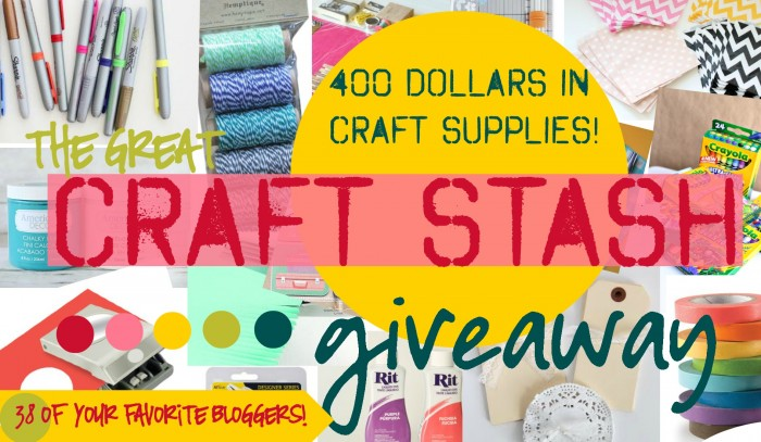 The Great Craft Stash Giveaway! $400 in craft supplies!