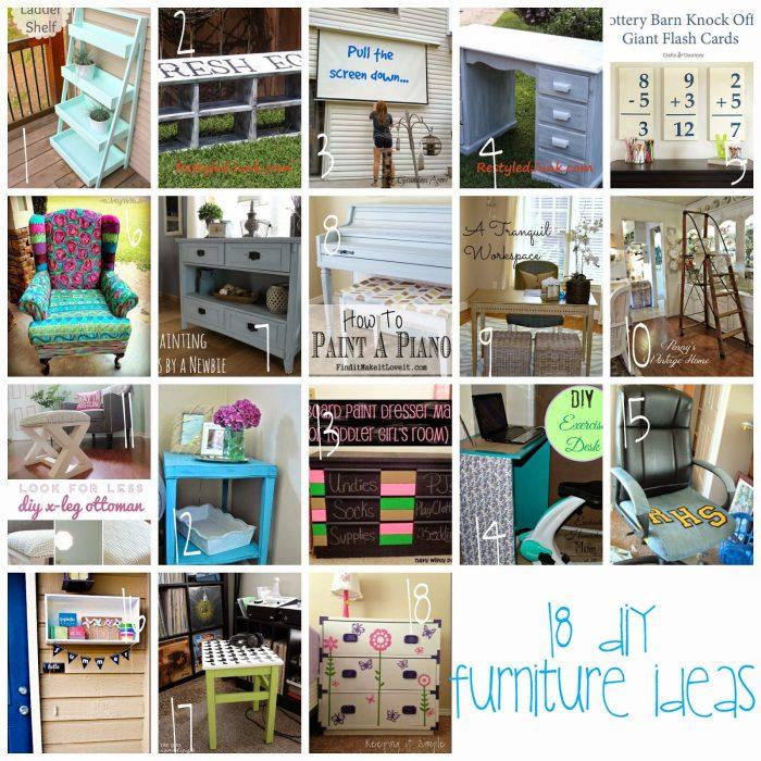18 DIY Furniture Ideas